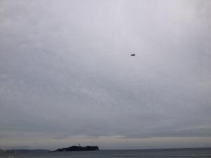 江ノ島と飛行機
