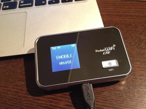 イーモバイル Pocket WiFi LTE GL06Pが手放せない