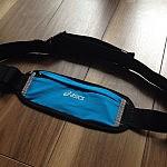 ランニング用のウエストポーチを買ってみました。asics EBT175ストレッチウエストポーチM